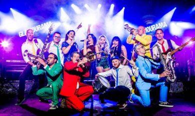 Glamourama Band boeken feestband met blazers